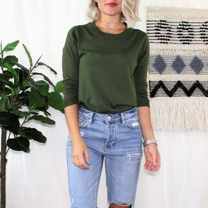 J.Crew Olive Green Merino Wool Tippi Sweater